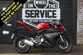 YAMAHA YZF R125 RED #163;2700 RIDE AWAY TODAY!