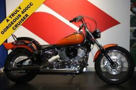 2006 06 YAMAHA XVS 400 DRAGSTAR, BLACK/ORANGE, JAPANESE IMPORT, CUSTOM CRUISER!