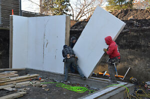 Structural Insulated Panel for new build, garages, additions.