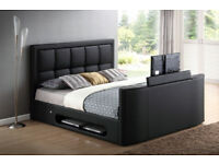 BRAND NEW LEATHER TV BED FRAME + FREE MATTRESS + DELIVERY 586