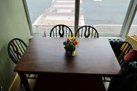DINING TABLE AND 4 CHAIRS PLUS BENCH