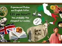 Competent, enthusiastic, CHEAP bilingual Italian and English tutor in London!