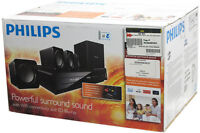 PHILIPS 3D BLU-RAY 5.1 CHANNEL HOME THEATRE SYSTEM - SURPLUS !