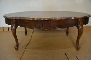 Solid Cherry Wood French Provincial Coffee Table
