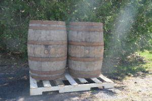 DECORATIVE WOODEN BARRELS