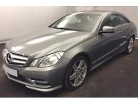 2012 SILVER MERCEDES E350 3.0 CDI SPORT DIESEL AUTO COUPE CAR FINANCE FROM 41 PW