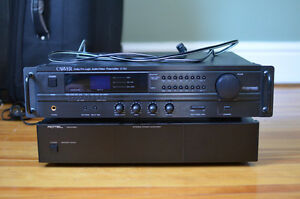 Carver C-15v Preamp with Rotel RB-970BX amplifier