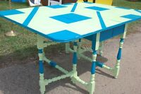 Gate Leg Table Retro Look Solid Wood