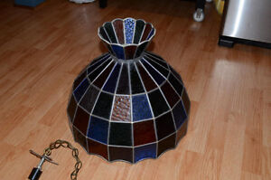 Stained Glass Ceiling Hanging Lamp Shade Tiffany style handmade Kitchener / Waterloo Kitchener Area image 8