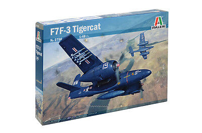 Used, Italeri 2756 1/48 Scale Model Heavy Fighter Aircraft Kit Grumman F7F-3 Tigercat for sale  Shipping to United States