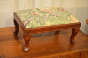 Cute foot stool with floral Upholstery