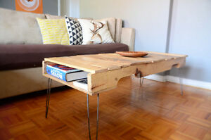 Table basse palette - hairpin legs