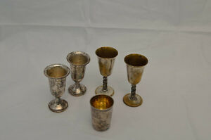 Silver plated mini goblets