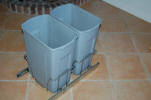pull out double under the sink recycling bins