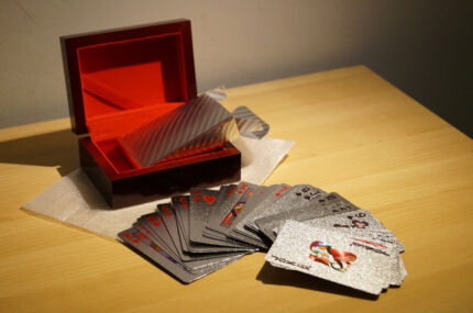 24k Silver Playing Poker Cards w Wooden Box Father's Day Gift Melbourne CBD Melbourne City Preview