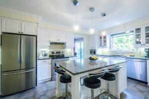 Armoires de cuisine et comptoir de granite