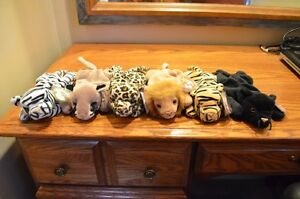 Ty Beanie Babies *Retired & Rare* - Set of 8 Jungle Cats