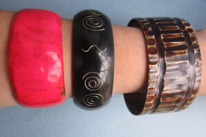 Hand-Carved Cow Horn Bracelets (Made In Kenya)
