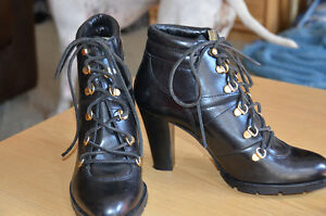 Michael Kors leather booties size 10