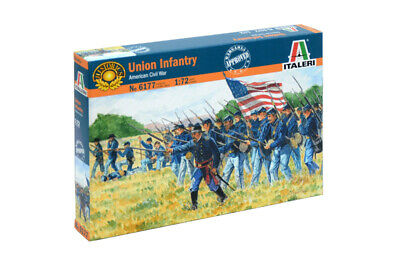 Italeri 1:72 - 6177, Union Infanterie US Civil war, 50 Figuren, Modellbausatz