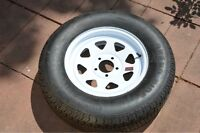 "** 15"" radial Trailer Tire and rim  (NEW) **"