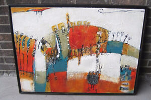 Original Abstract Painting By Montreal Artist Louise Hamel