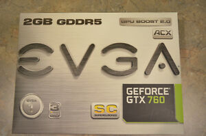 2 EVGA GeForce GTX 760 Superclocked w/ ACX Cooler graphics cards