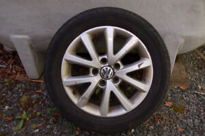 VW Jetta OEM Alloy wheels and Michelin Defender tires