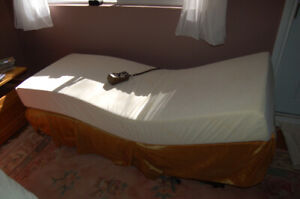Adjustable electric (single) bed.