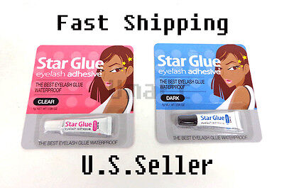 Star Glue Eyelash Adhesive  Best Eye Lash Glue Waterproof  Dark  or Clear
