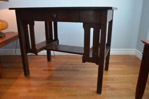 Solid wood library table/desk