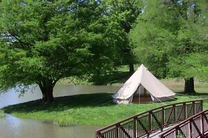 Glamping 6m canvas bell tents Parrearra Maroochydore Area Preview