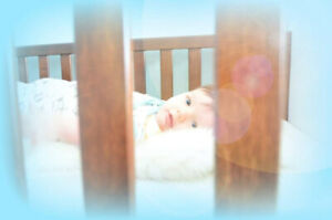 Baby Crib, Change Table and Toddler Rail