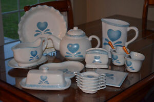 Country matching set of dishes