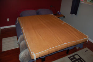 """4"""" High Density (Double) foam mattress with 2"""" egg crate top."""