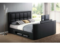 BRAND NEW LEATHER TV BED FRAME + FREE MATTRESS + DELIVERY 743