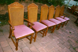 French Cane High End Dining Chairs Rosemeadow Campbelltown Area Preview