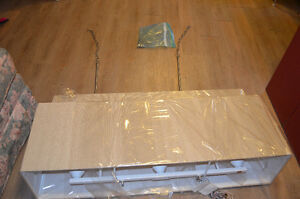 NEW IN PACKAGE 3 BULB FABRIC CONTEMPORY CHANDELIER
