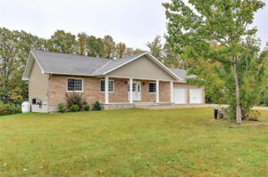 Newer Built Bungalow with over 2 Acres of land ! A must see