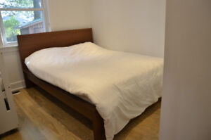IKEA MALM QUEEN BED FRAME + DRESSER + SIDE TABLE