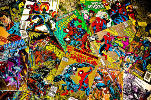 1 BOX LOT OF 100 COMICS MARVEL AND DC ONLY NO DUPLICATION FREE SHIPPING