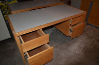 Two computer desks / work benches