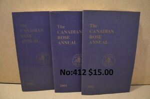 Livres The Canadian rose annual 2002 2003 2004