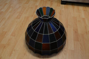 Stained Glass Ceiling Hanging Lamp Shade Tiffany style handmade Kitchener / Waterloo Kitchener Area image 6