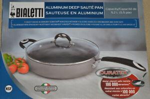 Bialetti Deep Saute Pan / Jumbo Cooker 5.2L with Duratek coating