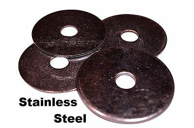 "Stainless Steel Fender Washers  1/4"" x 1"" (50 pcs)"