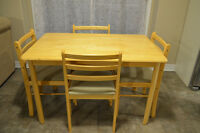 Table and four chairs (dinette set)