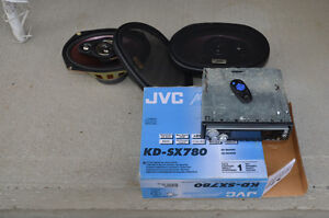 JVC Car speakers come with radio/CD player