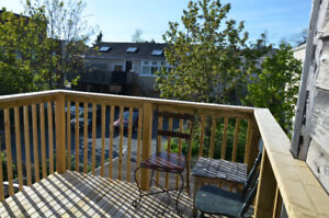 3 bed top floor Apt close to hospital, Quinpool with deck