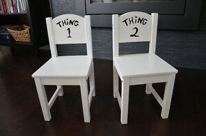 2 chairs and a naughty spot stool!